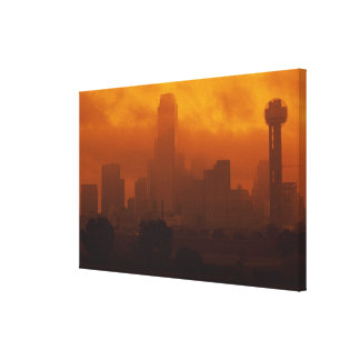 Smog in the City Canvas Print