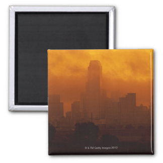 Smog in the City 2 Inch Square Magnet