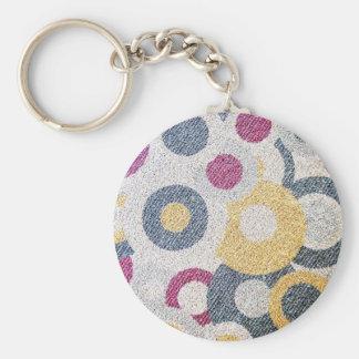 smoke Abstract Antique Junk Style Fashion Art Soli Basic Round Button Keychain