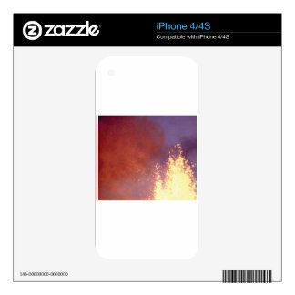 smoke and fire iPhone 4 decal
