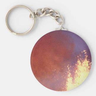 smoke and fire keychain