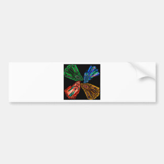 Smoke art bumper sticker