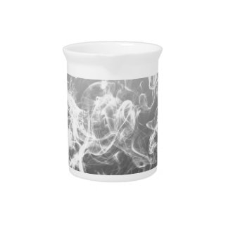 smoke art pattern fashion black and white beverage pitcher