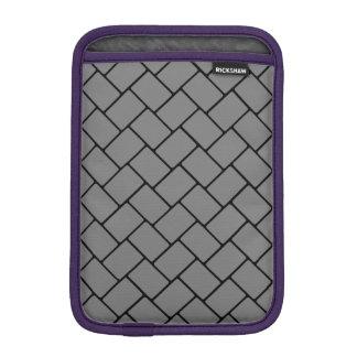 Smoke Basket Weave 2 iPad Mini Sleeves