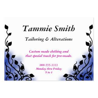 smoke blue large business card