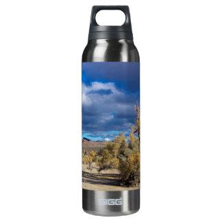 Smoke Bush in Joshua Tree Thermos Bottle