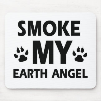 smoke cat design mouse pad