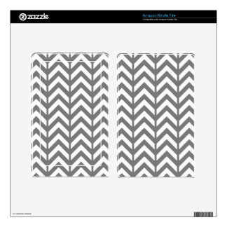 Smoke Chevron 3 Decals For Kindle Fire