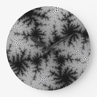 Smoke Crackle Large Round Wall Clock