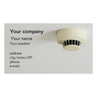 """Smoke detector"" business card"