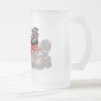 sMoKe Em Frosted Glass Beer Mug