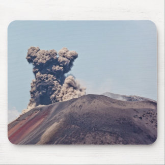Smoke escaping from active volcano Anak Krakatau Mouse Pad