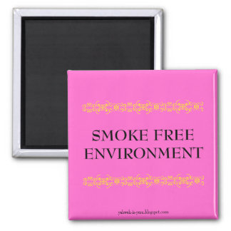 SMOKE FREE ENVIRONMENT 2 INCH SQUARE MAGNET