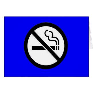 Smoke Free greeting card