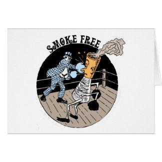 Smoke Free. Kicking butt! Card