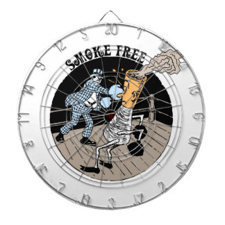 Smoke Free. Kicking butt! Dartboard With Darts