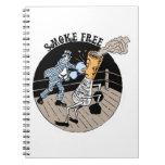 Smoke Free. Kicking butt! Notebooks