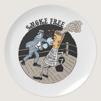 Smoke Free. Kicking butt! Plate