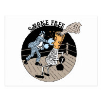 Smoke Free. Kicking butt! Postcard