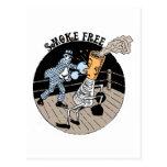 Smoke Free. Kicking butt! Postcard