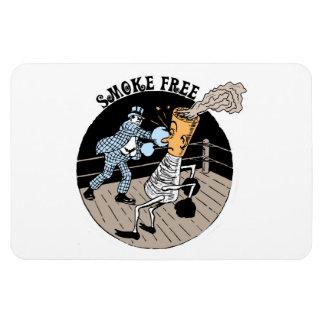 Smoke Free. Kicking butt! Rectangular Photo Magnet