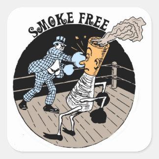 Smoke Free. Kicking butt! Square Sticker