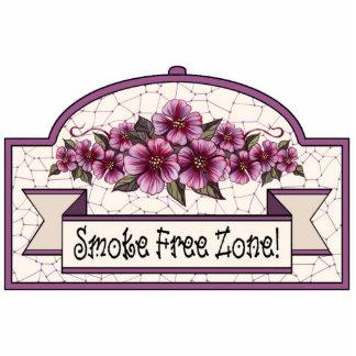 """Smoke Free Zone"" - Decorative Sign - 17 Photo Cut Outs"