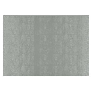 Smoke Gray Personalized Grey Silver Background Cutting Board