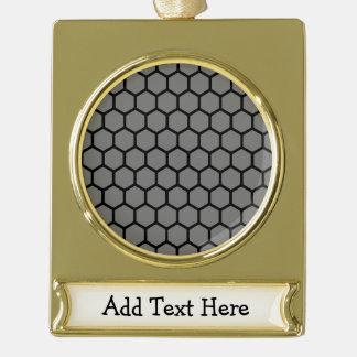Smoke Hexagon 4 Gold Plated Banner Ornament
