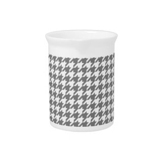 Smoke Houndstooth 1 Beverage Pitchers