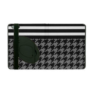 Smoke Houndstooth w/ Stripes 2 iPad Cases