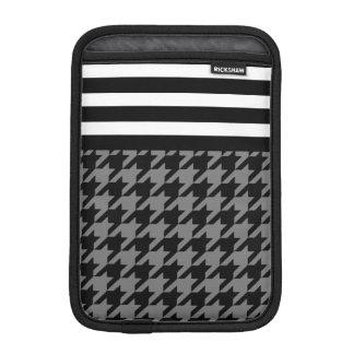 Smoke Houndstooth w/ Stripes 2 Sleeve For iPad Mini