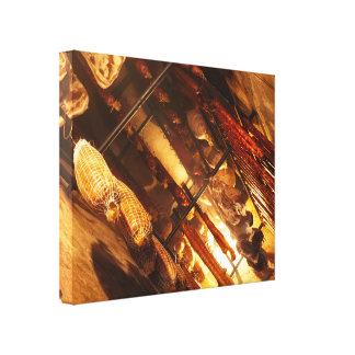 Smoke house canvas print