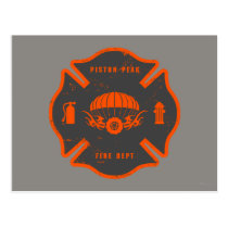 Smoke Jumpers Badge Postcard