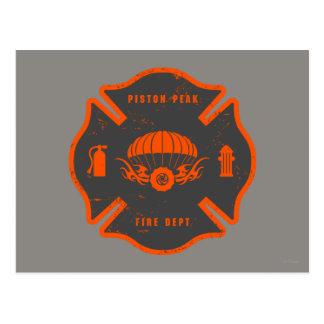 Smoke Jumpers Badge Postcard
