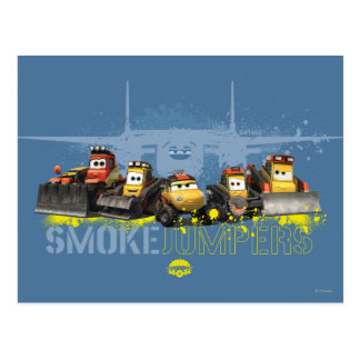Smoke Jumpers Graphic Postcard