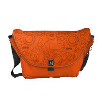 Smoke Jumpers Orange Pattern Messenger Bag at Zazzle