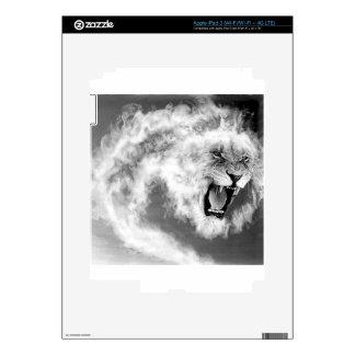 Smoke Lion iPad 3 Decal