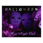 Smoke Masks Halloween Party Flyer