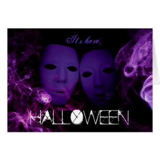 Smoke Masks Halloween Party Invitations