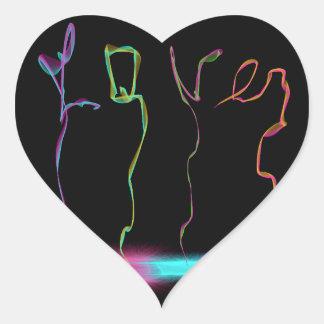 Smoke of Love (heart Sticker)