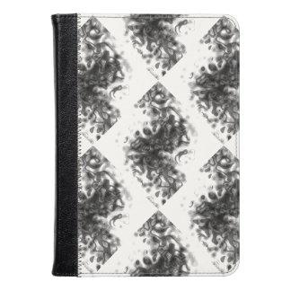 Smoke Optical Illusion Marble Paint Black White Kindle Case