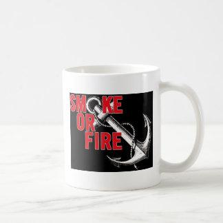 smoke or fire  anchor mug