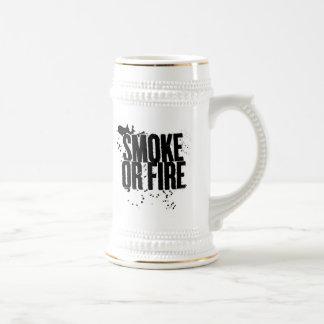 smoke or fire beer stein coffee mugs