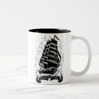 smoke or fire ship mug
