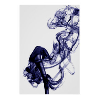 Smoke Photography - Blue Poster