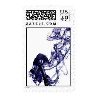 Smoke Photography - Blue Stamp