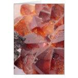 Smoke quartz and pyrite greeting card