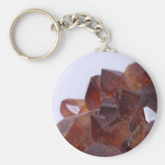 Smoke quartz key chain