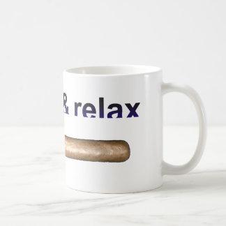 smoke & relax taza básica blanca